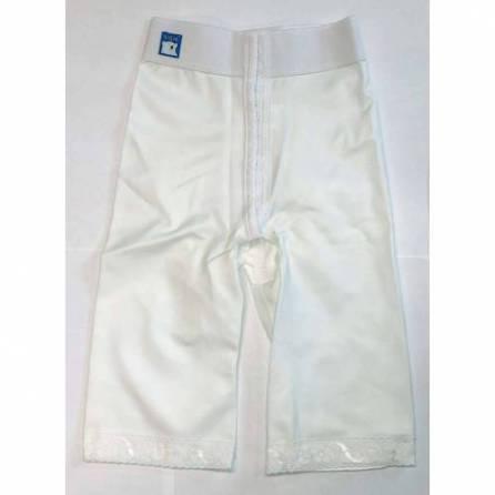 Panty mit normaler Taille, knielang, weiß, Größe 1