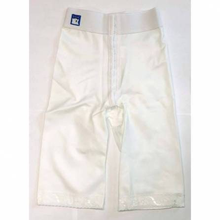 Panty mit normaler Taille, knielang, weiß, Größe 2