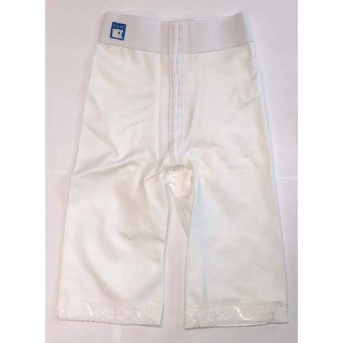 Panty mit normaler Taille, knielang, weiß, Größe 7