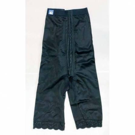 Panty mit hochgezogener Taille, knielang, schwarz, Größe 1