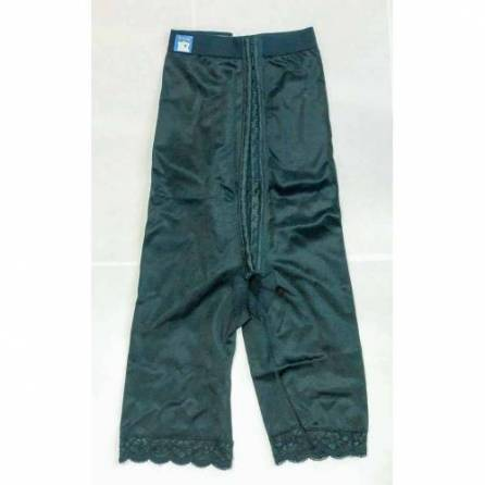 Panty mit hochgezogener Taille, knielang, schwarz, Größe 5