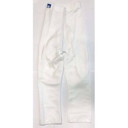 Panty mit hochgezogener Taille, wadenlang, weiß, Größe 4