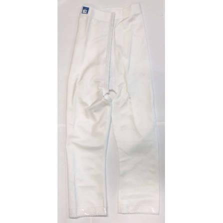 Panty mit hochgezogener Taille, wadenlang, weiß, Größe 5
