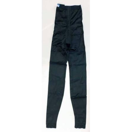 Panty mit hochgezogener Taille, knöchellang, schwarz, Größe 1