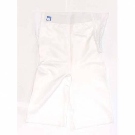 Panty mit hochgezogener Taille, knielang, weiß, Größe 5