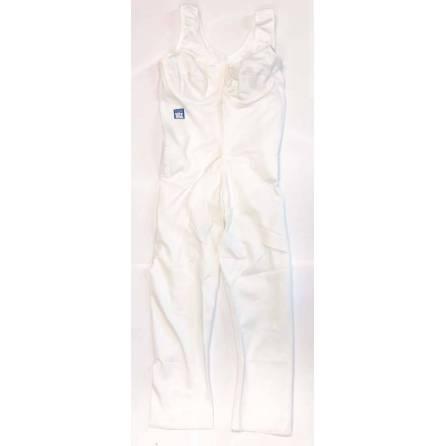 Body mit ¾-langem Bein, Oberkörperlänge bis 78cm, weiß, Größe 4