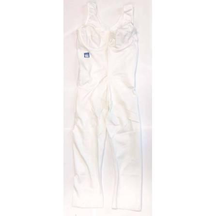 Body mit ¾-langem Bein, Oberkörperlänge bis 78cm, weiß, Größe 6