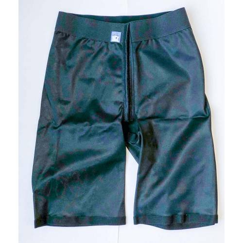 Panty mit normaler Taille, knielang, schwarz, Größe 1