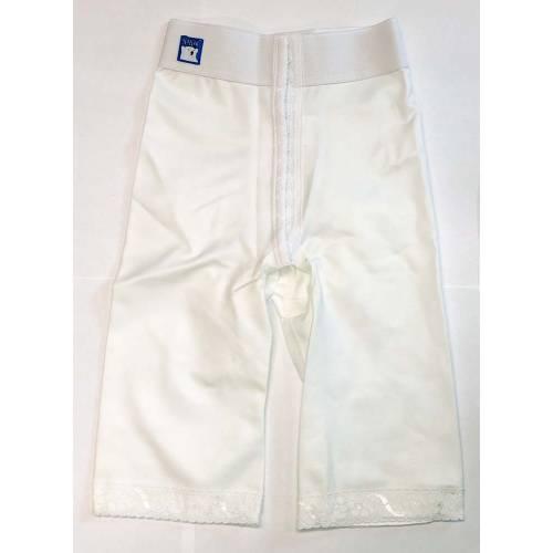 Panty mit normaler Taille, knielang, weiß, Größe 5