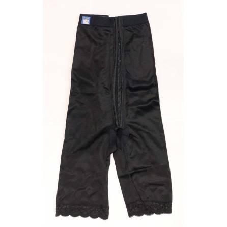 Panty mit hochgezogener Taille, wadenlang, schwarz, Größe 2