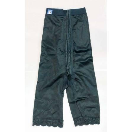 Panty mit hochgezogener Taille, wadenlang, schwarz, Größe 5